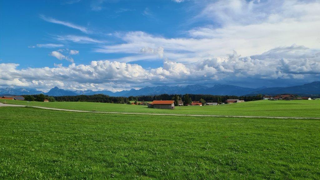 Alpenblick aus dem Allgäu